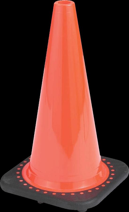 brilliant orange traffic